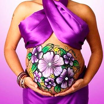 боди арт беременные
